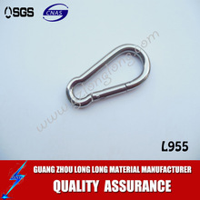 61.5*5.0mm zinc alloy carabiner hook shackle hooks karabiner hook