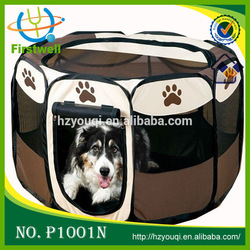 Animal Play Yard Fabric Pet Playpen with Gate