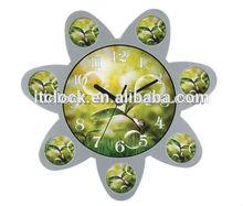 Flower shape gift clock