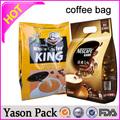 Yason di carta artigianale popcorn/pepite di pollo/patatine fritte borsa plastica della carta di credito maniche pe per alimenti pellicola