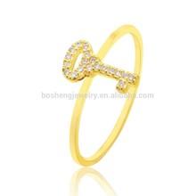2015 Latest zircon key styles of wedding rings