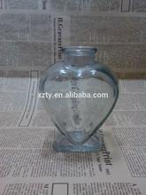 345ml heart shape glass bottle