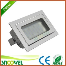 Adjustable samsung chip recessed led downlight square 40w,with CE RoHS