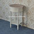 Urbano a mano diseños- terminado petite redonda de madera de acento y la mesa final- crema