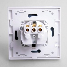 Excellent 86*86 Single Port PC Outlets White Euro FacePlate Plug on Promotion
