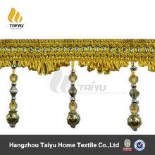 Factory price beaded fringe trim on braid