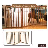 Foldable Indoor Wooden Pet Dog Gate