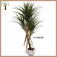 large artificial pandanus plant with roots for indoor display