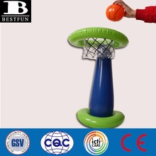 Kids Inflatable Basketball Ring Stand Movable Basketball Hoop Stand