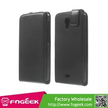 Black Vertical Flip Magnetic Leather Case for Wiko Bloom