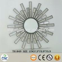 Ruijing creative design Metal&Glass wall antique mirror