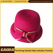 wholesale china factory paper braid Children Size Faux Wool Felt Hat