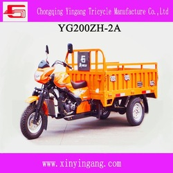 effective chinese gas 200cc cargo tricycle, motorized open body type three wheel motorcycle