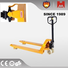 hydraulic hand pallet truck operated electric lifter car with fork extension