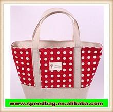 wholesale cotton jute shopping bag tote bag designer lady handbag R68
