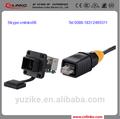 de plástico rj45 ethernet adaptador de conector