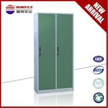 bedroom furniture 2 door metal clothes wardrobes /steel storage locker