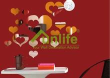 3d DIY Romantic Combination Mirror Heart Wall Decals Love Home Decor Decoration MS361088