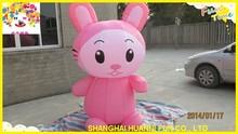 2015 new design pink rabbit model advertising inflatables