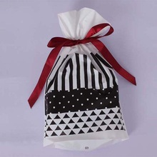 High quality personalized drawstring plastic packaging bags