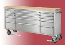 lockable system and ball bearing drawers rolling metal tool boxes