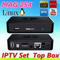 mag 254 linux iptv decodificador hd streaming set top box 650 mhz original mag254 iptv caja