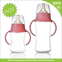 Promotional Glass Baby Feeding Bottlemanufacturer, standard 120ml/240ml with baby bottle cleaning brush
