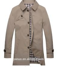 2015 latest design Windbreaker coat design for men's coat& mens mid-long trench coats clothing