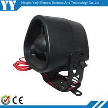 electronic siren DC12V or 24V home alarm system Battery Back Up Siren specification is optional