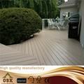 New design 100% reciclado ao ar livre WPC deck preço / deck WPC