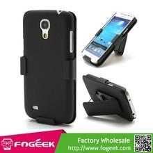 2 in 1 Belt Clip Rubberized Plastic Hard Case Cover for Samsung Galaxy S4 mini i9195 i9190