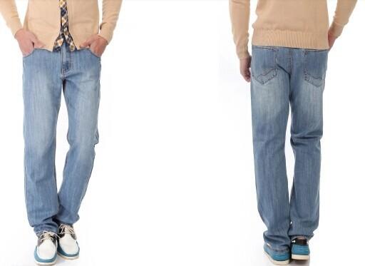 Guys in Light Blue Jeans Jeans For Men Light Blue