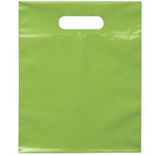 9.5X12 die cut handle shopping bags