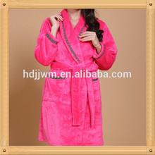 Pink Shawl Terry Women's Bathrobe