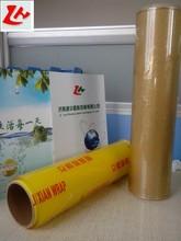 PVC cling wrap plastic film clear PVC roll,food packaging film PVC cling film