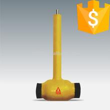 handle one way gas service valve underground ball valve long stem