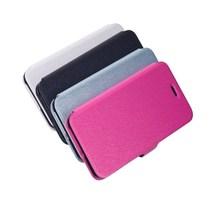 2015 latest design flip silk materail PU leather cellphone case for iphone 6