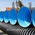 Negro de plástico de polietileno de alta densidad 110 mm tubo corrugado para drenaje