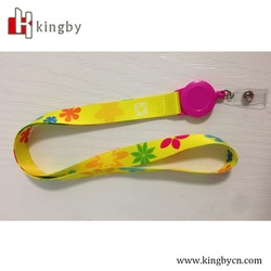 top quality retractable ABS badge yoyo with heat transfer lanyard