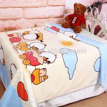 New design animal head plush baby blanket, baby heated blanket