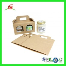 Q996 Brown Kraft Paper Jar Gift Box With Handle, Fancy Gift Box Wholesale