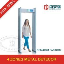 Door Frame Metal Detector with 4 Zones, Waterproof/Lightweight, Cylindrical and Attractive Design