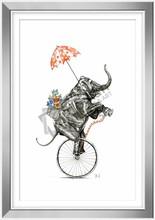 Circus elephant mirror frame painting