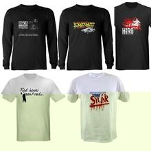 screen printing t-shirt wholesale clothing xxl six film blue t-shirt