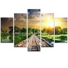 Large Size Multi Panels Fancy Landscape Canvas Wall Art Wholesale
