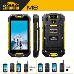 SNOPOW M8 IP68 waterprof walkie talkie android 4.4.2 wireless charge and NFC general mobile