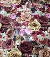 tricot fabric/velvet for sofa/printed velvet fabric