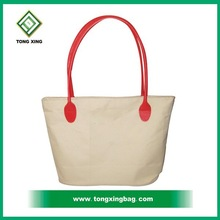 2015new design cheap 16oz promotion white cotton canvas tote bag
