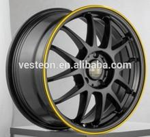 durable matt black car aluminum alloy wheel 10-30 inch