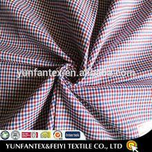 2015 latest fashion original yarn dyed designs twill poly cotton gingham fabrics
